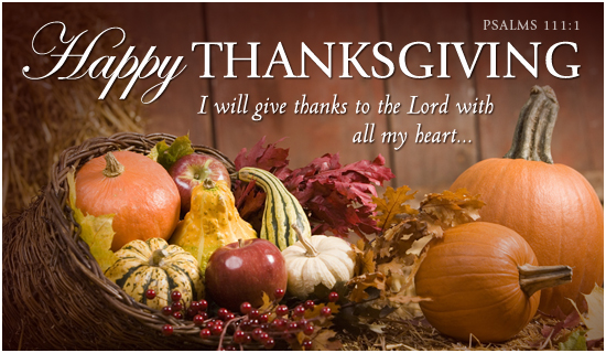 Thanksgiving Week Services & Dinner Nov. 23-26