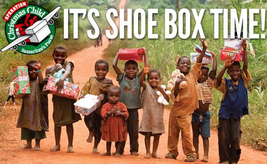 Operation Christmas - It's Shoe Box Time!!!